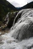Wasserfall in Nationalpark Jiuzhaigou Lizenzfreie Stockfotos