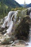 Wasserfall in Nationalpark Jiuzhaigou Stockfoto