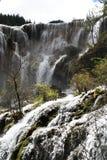 Wasserfall in Nationalpark Jiuzhaigou Lizenzfreies Stockfoto