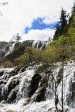 Wasserfall in Nationalpark Jiuzhaigou Lizenzfreie Stockfotografie