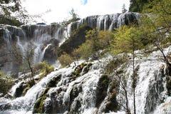 Wasserfall in Nationalpark Jiuzhaigou Lizenzfreies Stockbild