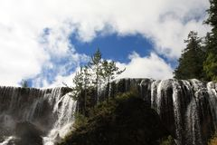 Wasserfall in Nationalpark Jiuzhaigou Stockfotografie