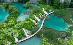 Wasserfall in Plitvice Stockfoto