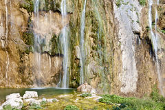 Wasserfall - Plitvice Nationalpark Stockbild