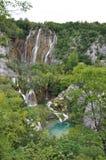 Wasserfall am Plitvice See-Nationalpark Lizenzfreies Stockbild