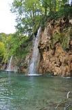Wasserfall am Plitvice See-Nationalpark Stockfotos