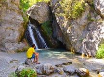 Wasserfall in Prionia Lizenzfreies Stockfoto