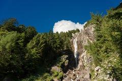 Wasserfall Regina del Lago - Adamello Trento Italien Lizenzfreies Stockfoto