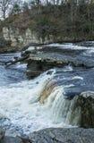 Wasserfall in Richmond, Yorkshire Lizenzfreie Stockfotos