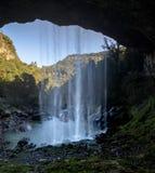 Wasserfall Salto Ventoso - Farroupilha, Rio Grande do Sul, Brasilien Lizenzfreie Stockfotos