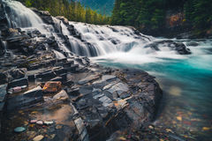Wasserfall in Schwarzweiss Stockfotos