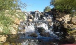 Wasserfall in Schwarzweiss Stockbild