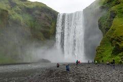 Wasserfall Seljalandsfoss in der Südküste von Island Stockfoto