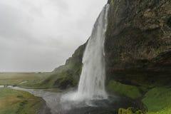Wasserfall Seljalandsfoss Island Stockfotografie