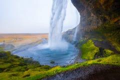 Wasserfall ` Seljalandsfoss-` in Süd-Island Lizenzfreies Stockbild