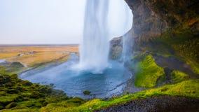 Wasserfall ` Seljalandsfoss-` in Süd-Island Lizenzfreie Stockbilder