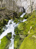 Wasserfall Skaklia, Bov-Dorf, Iskarsko-Schlucht Lizenzfreies Stockfoto