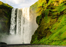 Wasserfall Skogafoss Island Lizenzfreies Stockfoto