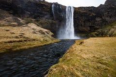 Wasserfall ` Skogafoss-` in Süd-Island Lizenzfreie Stockbilder
