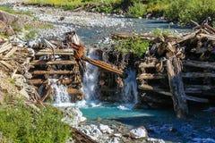 Wasserfall Struture, das unten fällt Lizenzfreie Stockfotografie