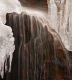 Wasserfall und Eis Lizenzfreies Stockbild