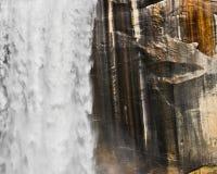 Wasserfall und Granit Stockbild