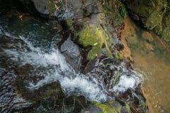 Wasserfall und kleiner See im Regenwald von Khao Sok sanctuar Lizenzfreies Stockfoto