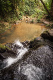 Wasserfall und kleiner See im Regenwald von Khao Sok sanctuar Stockbilder