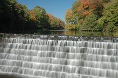 Wasserfall und Laub Lizenzfreie Stockbilder