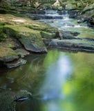 Wasserfall und ruhiges Pool Stockbilder