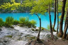 Wasserfall und See Lizenzfreie Stockbilder