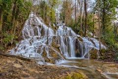 Wasserfall und Wald Stockfoto