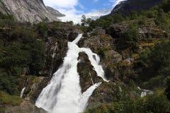 Wasserfall unter einem Gletscher Stockfoto