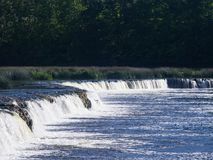Wasserfall Ventas-Rumba auf Fluss Venta bei Kuldiga, Lettland, selektiver Fokus lizenzfreie stockfotografie