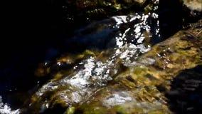 Wasserfall in Viktoriapark in Berlin Kreuzberg am 25. Juni 2015, Deutschland stock video