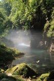 Wasserfall Vintgar, Slowenien, Jahr 2008 Lizenzfreies Stockfoto