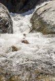 Wasserfall von einem Fluss in Marokko Stockfotografie