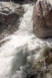 Wasserfall von einem Fluss in Marokko Stockbild