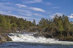 Wasserfall von Fluss Rauma Lizenzfreies Stockbild