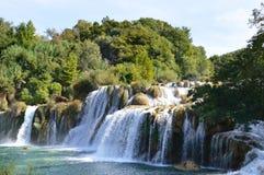 Wasserfall von Krka-Fluss, kroatischer Nationalpark Lizenzfreies Stockfoto