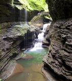 Wasserfall Watkins Glen State Park stockbilder