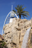 Wasserfall am wilden Wadi-Park in Dubai stockfoto