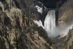 Wasserfall in Yellowstone Stockbilder