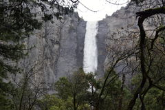 Wasserfall in Yosemite-Tal lizenzfreies stockbild