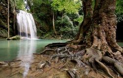 Wasserfallblau Stockfotografie