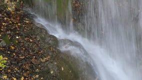 Wasserfalldetail stock footage