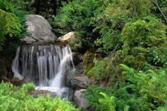 Wasserfallgarten Stockfotos