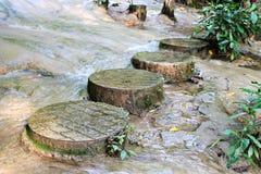 Wasserfallgehwegweg Lizenzfreies Stockfoto