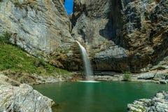 Wasserfallhuesca-osaldo stockbilder