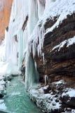 Wasserfallkälte Stockfoto